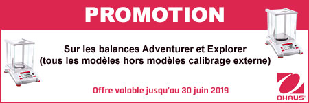 Promotion balance Adventurer et Explorer, OHAUS®